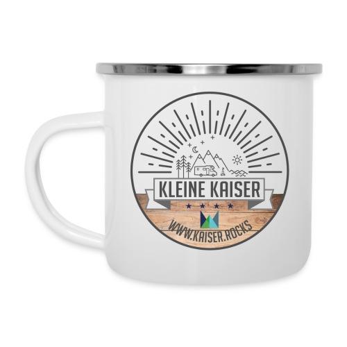 Sticker KleineKaiser grau outlines Zeichenfla che - Emaille-Tasse