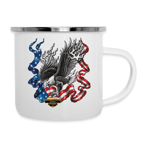 american eagle schrift gross - Emaille-Tasse