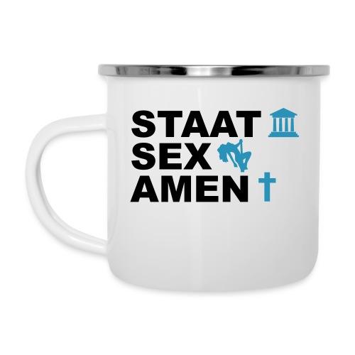 Staatsexamen / Staat Sex Amen - Emaille-Tasse