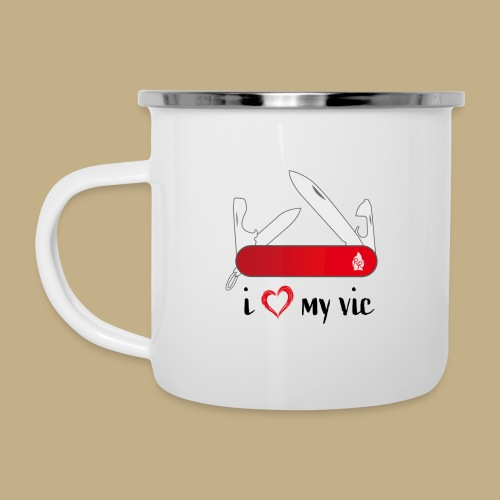 I Love My Vic - Emaille-Tasse