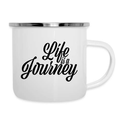 Life is a journey - Kubek emaliowany