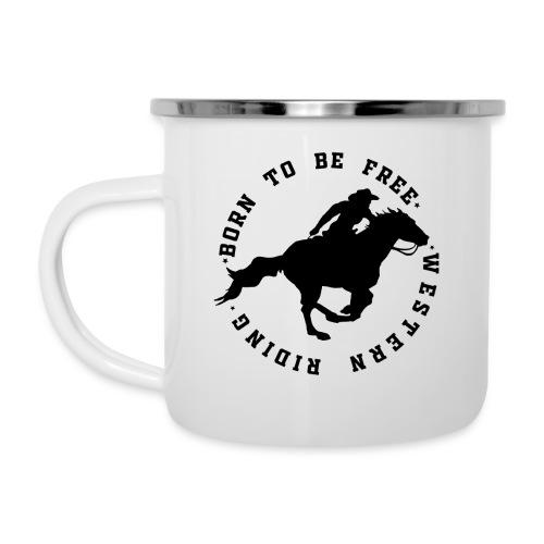 WESTERN HORSES - Kubek emaliowany