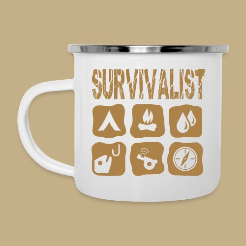Survivalist - Emaille-Tasse