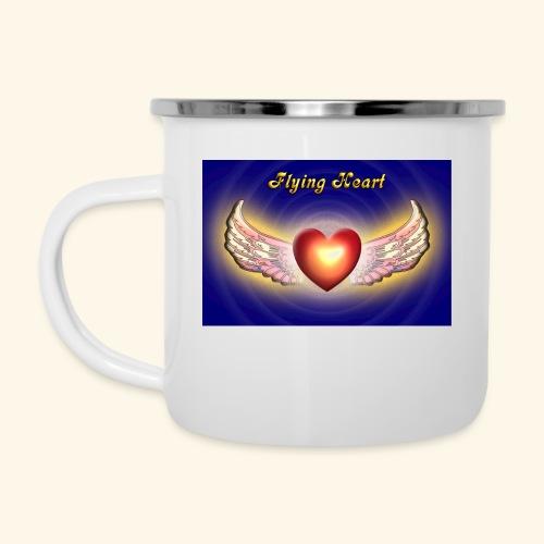 Flying Heart - Emaille-Tasse