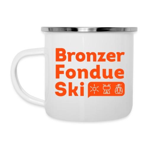 Bronzer, Fondue, Ski - Tasse émaillée