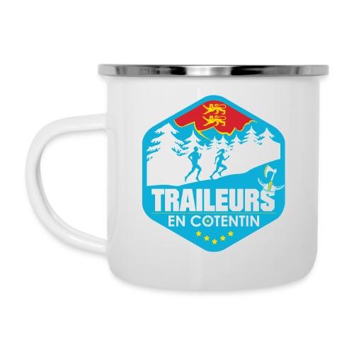 Logo traileurs en cotentin - Tasse émaillée