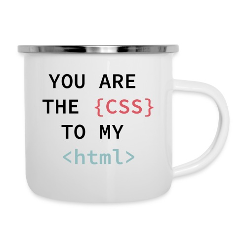 You Are My CSS TO MY html - Digitales Chemnitz - Emaille-Tasse