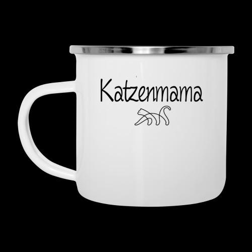 Katzenmama - Emaille-Tasse