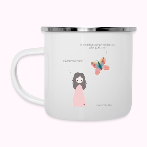Milly & Schmetterling - Emaille-Tasse