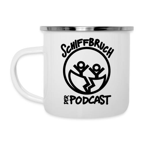 Schiffbruch - Der Podcast - Emaille-Tasse