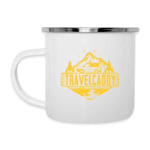 Original Travelcaddy.de Merchandise - Emaille-Tasse