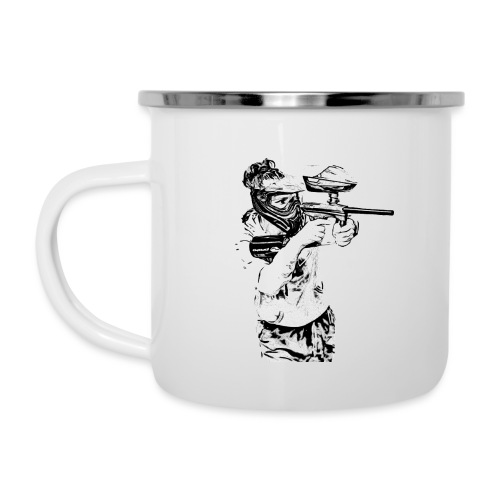 Girl6 png - Emaille-Tasse