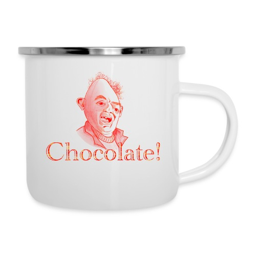 Sloth loves Chocolate - Sloth liebt Schokolade - Emaille-Tasse