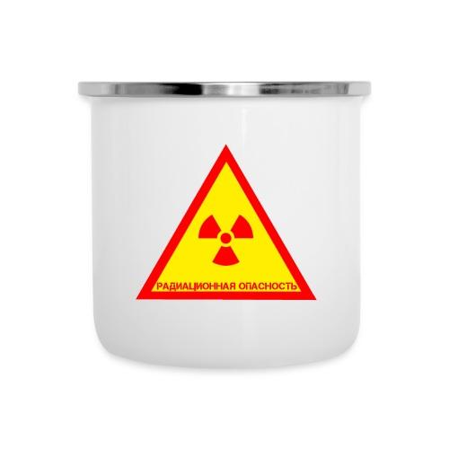 Achtung Radioaktiv Russisch - Emaille-Tasse