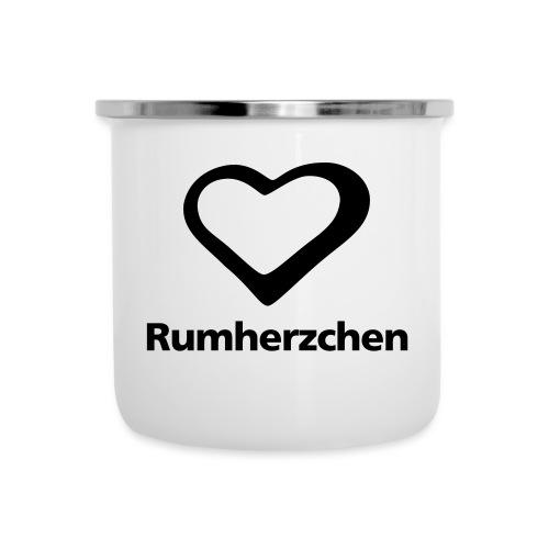 Rumherzchen - Emaille-Tasse