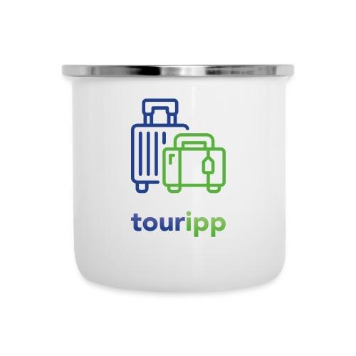 Logo con valigie - Tazza smaltata