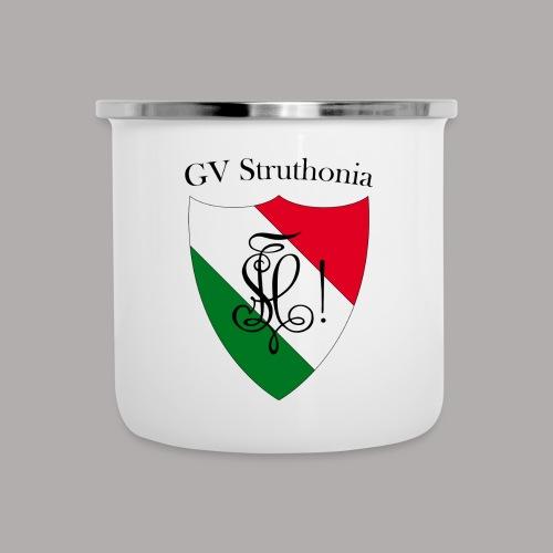 Wappen Struthonia beschriftet - Emaille-Tasse