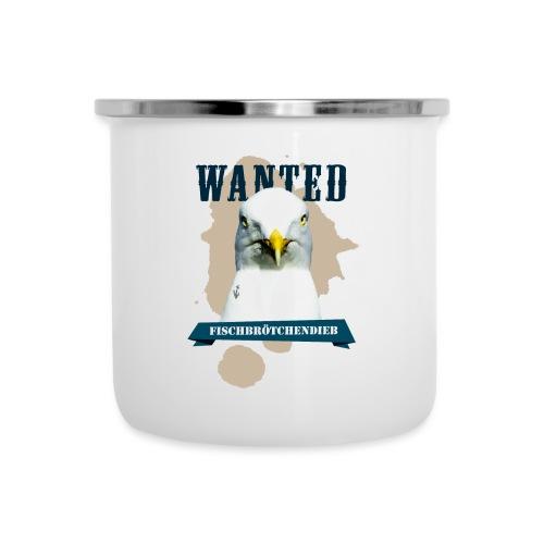 WANTED - Fischbrötchendieb - Emaille-Tasse