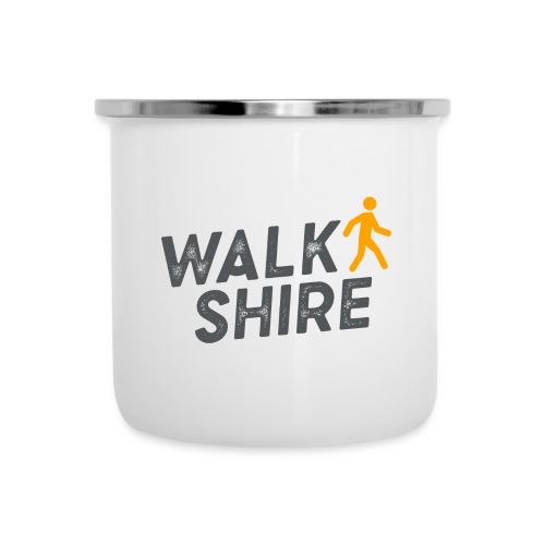Walkshire logo orange person - Camper Mug