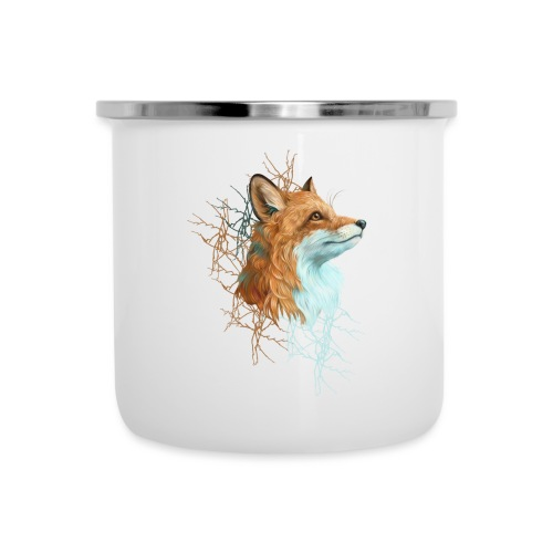 Happy the Fox - Emaille-Tasse