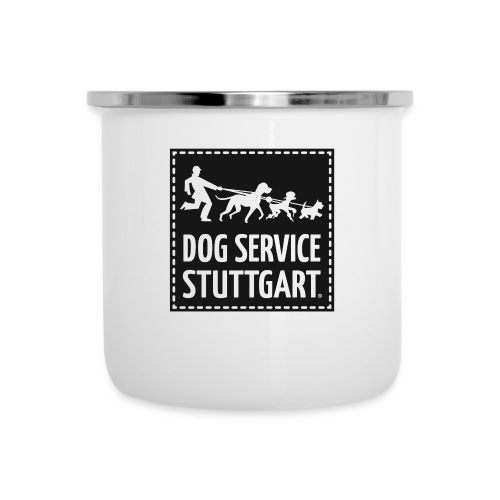 Dog Service Stuttgart schwarz - Emaille-Tasse