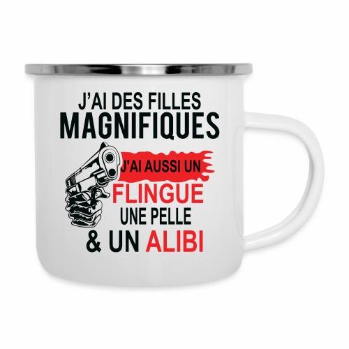 J'AI DEUX FILLES MAGNIFIQUES Best t-shirts 25% - Tasse émaillée