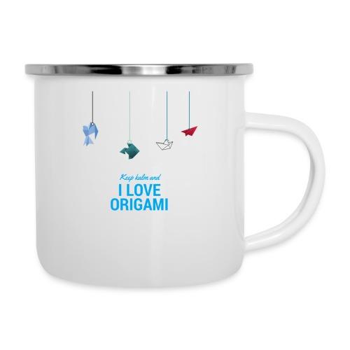 keep kalm and love origami versione estate - Tazza smaltata