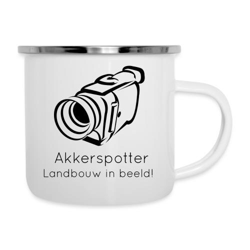 Logo akkerspotter - Emaille mok