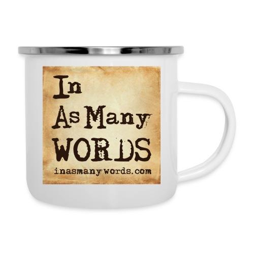 I AM Words LOGO_Brown - Camper Mug