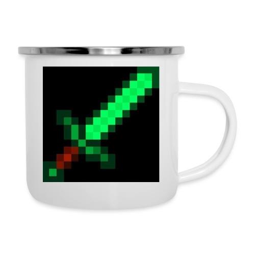 green emerald MCPE sword - Camper Mug