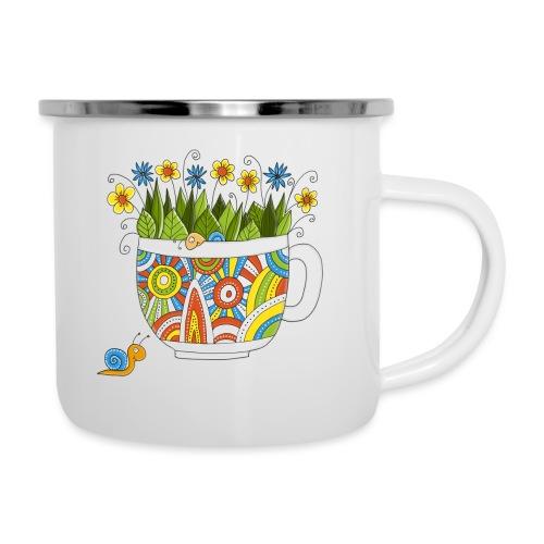 Herr und Frau Schnecke - Emaille-Tasse