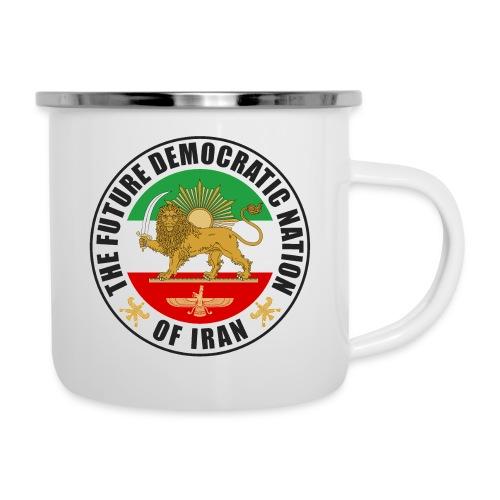 Iran Emblem Old Flag With Lion - Camper Mug