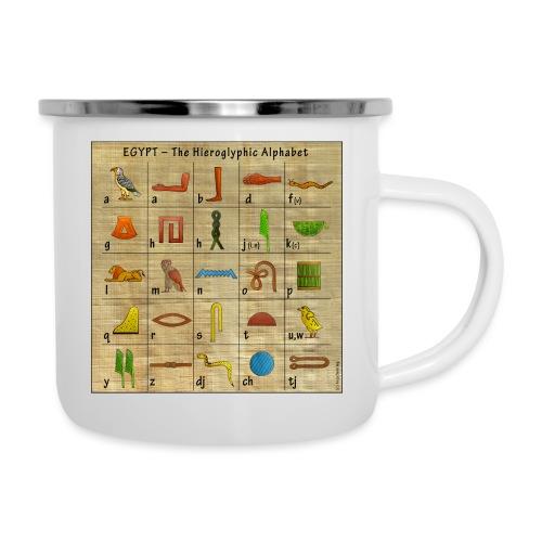 The Hieroglyphic Alphabet - Emaille-Tasse