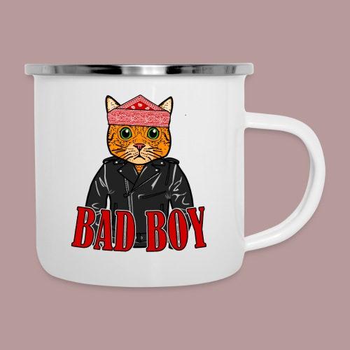 Bad boy chat roux rockeur - Tasse émaillée
