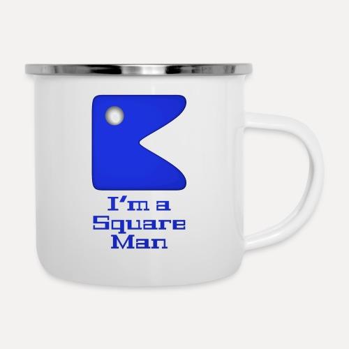 Square man blue - Camper Mug
