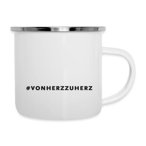 Tasse#vonherzzuherz - Emaille-Tasse