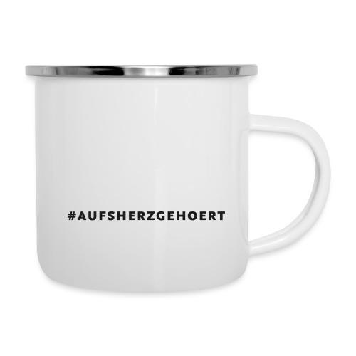 Tasse #aufsherzgehoert - Emaille-Tasse