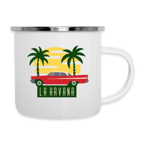 La Havana Vintage - Emaille-Tasse