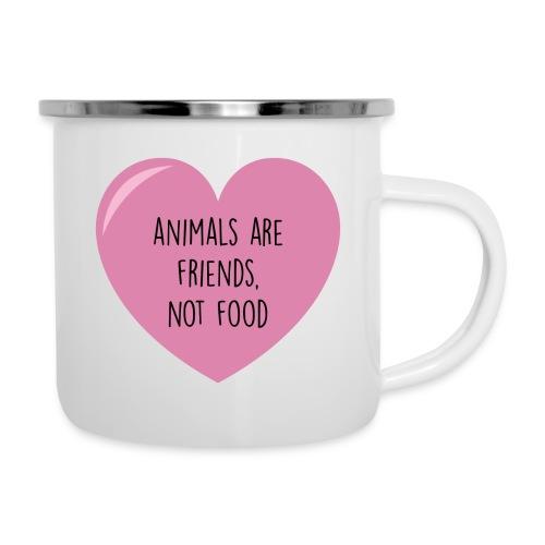ANIMALS ARE FRIENDS - Emaille-Tasse