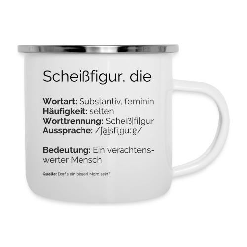 Sch**figur - Emaille-Tasse