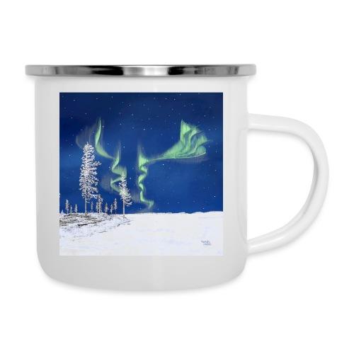winter met noorderlicht - Tasse émaillée