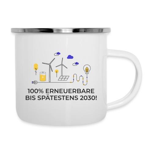 100% Erneuerbare 2030 2 - Emaille-Tasse