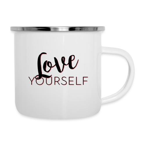 Love Yourself -Schriftzug Pascal Voggenhuber - Emaille-Tasse