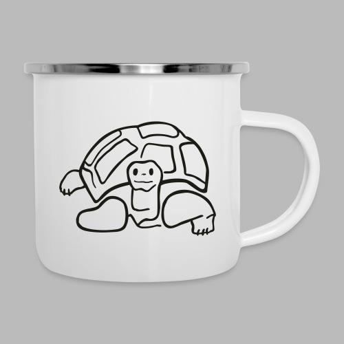 schildkröte landschildkroete aus den seychellen - Emaille-Tasse
