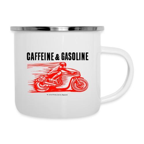 Caffeine & Gasoline black text - Camper Mug
