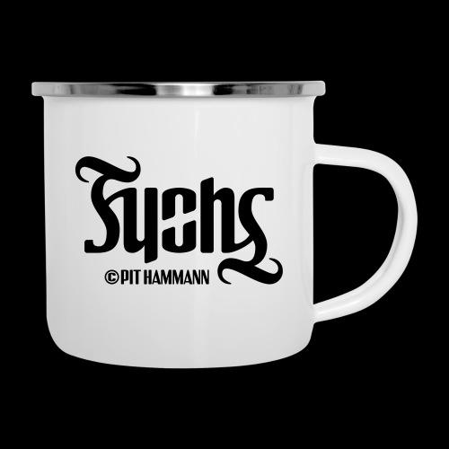 Ambigramm Fuchs 01 Pit Hammann - Emaille-Tasse