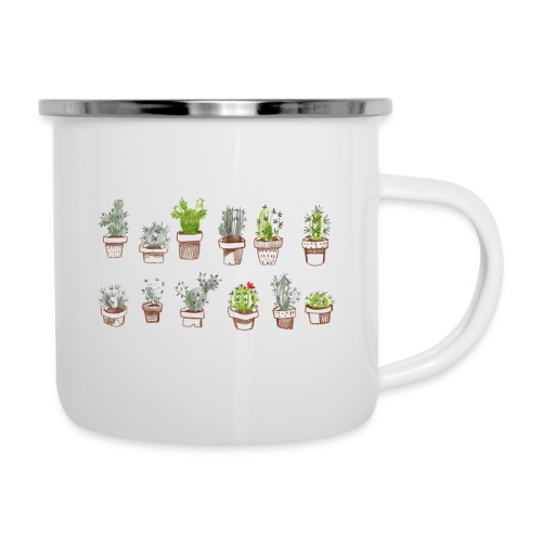 Cactus Family - Tasse émaillée