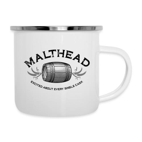 Malthead 01 Dark - Emaille-Tasse