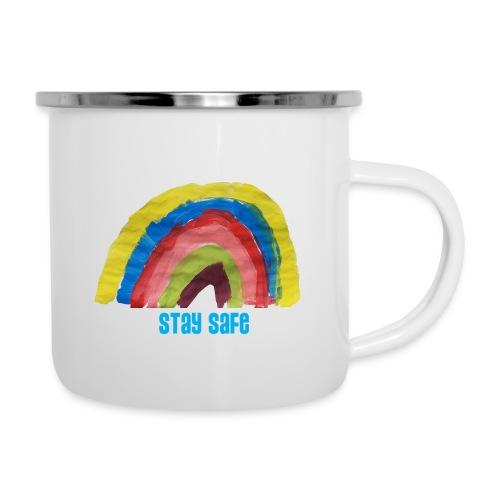 Stay Safe Rainbow Tshirt - Camper Mug