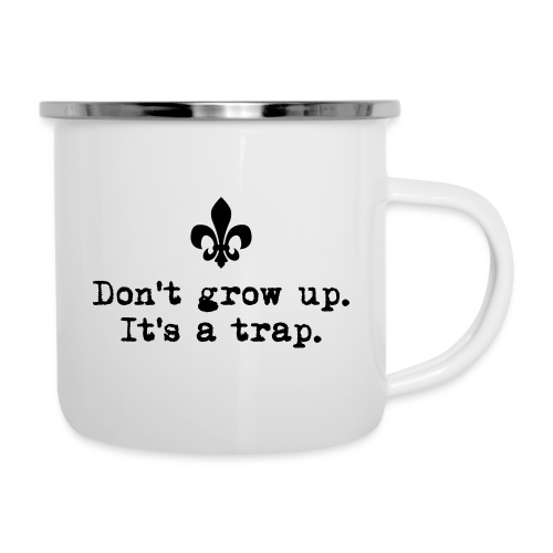Don't grow up… kl. Lilie Typewriter - Farbe frei - Emaille-Tasse